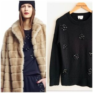 Kate Spade | Jewel Embellished Crew Sweater